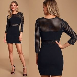 Lulu's Perfect Mesh Bodycon Dress
